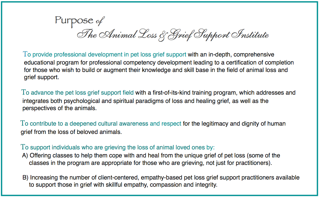 Teresa Wagner pet loss grief support certification program
