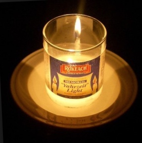 Pet loss during holidays-Yahrzeit candle