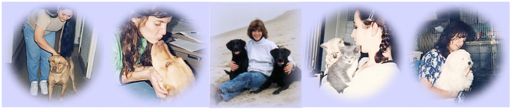 Compassion fatigue of pet loss grief counselors-Photos of shelter workers with animals
