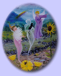 Afterlife of Animals-Image of Angels taking cat to heaven